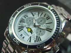 【送料無料】日本製VITAROSSOメンズ腕時計メタルムーンフェイス