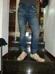 送料無料☆BASEMENTWEAR色落ちストレッチジーンズ☆W90cm