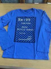 新品未開着用品!!韓国ブランドCONLUSOR  ブルー長袖Tシャツ