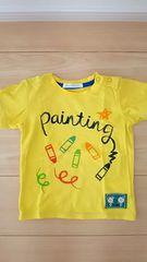 サクラクレヨン 半袖Tシャツ サイズ90 黄色 バックプリント有