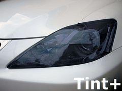 Tint+何度も貼れる レクサスIS GSE20系 ヘッドライト スモークフィルム