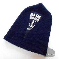 YGG★BLUEBLUE ブルーブルー ニット帽 ワッチ 帽子 紺 ネイビー