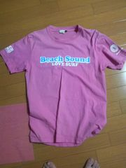 美品ビーチサウンドバナナセブン半袖Tシャツpinkピンクボディグローブ・送0