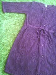 ●GLOBAL WORK●レース生地ワンピ&ロング丈羽織110美品