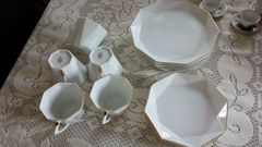 RICHFIELDたち吉白コーヒーカップ&ソーサー5点ケーキ皿5点15点