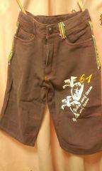 新品◆前後プリント&刺繍◆サーフ膝丈パンツ◆140ラスタ