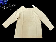 新品 アイボリー  ニット セーター S 7号 小さいサイズ