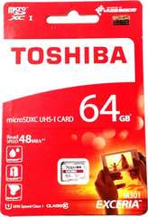 東芝 マイクロSDXCカード(microSDカード) 64GB クラス10【あだぷた無し】