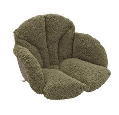 腰を包む座れる毛布 カーキ