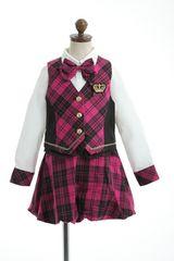 アイドル☆スーツ ピンクチェック 100 女の子女児