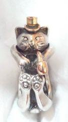 【和銀】 SILVER 18金 猫の紳士 リング 10号(フリー