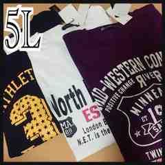 5L・プリントTシャツ・3点セット新品/MCU-707