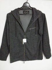 Aー617☆新品☆長袖カジュアルパーカー ブラック L