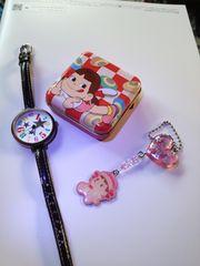 ペコちゃん & 時計