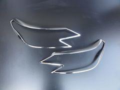 トヨタ マークX マークエックス 130系後期 クロームメッキヘッドライトリング ヘッドランプリム