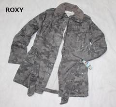 ロキシー*ROXY〓迷彩柄*中綿ジャケットコート(Lサイズ)新品〓