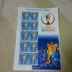特殊切手 未使用 2002年FIFAワールドカップ 1シート