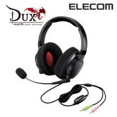 """☆ELECOM """"DUX""""MMOゲーミングヘッドセット ブラック"""