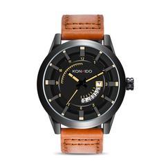 腕時計 メンズ 日本製クォーツ ブラウン