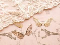 透かしパーツ蝶の羽4枚