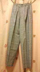 グレンチェック大人綺麗ウールパンツ60センタープレス