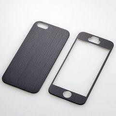 ☆ELECOM iPhone 5s/5用 アルミパネル ブラック PS-A12ALPBKN