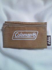 アウトドア Coleman コールマン キリン FIRE 限定 ポーチ 財布 コインケース ブラウン