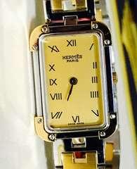 美品エルメスクロアジュールメンズ時計ブレスコンビ稼働品