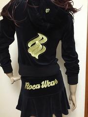 Roca WeaR/ロカウェア*ベロア*パーカー&ヒラミニ*セットアップ