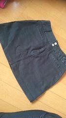 美品 タイト ミニスカート W61〜64 ブラック