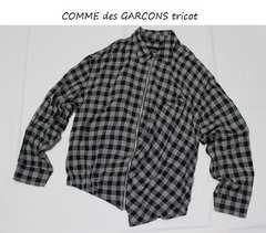 コムデギャルソントリコ*COMME des GARCONS tricotチェック柄ジャケットused