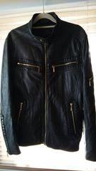 アバハウスラムレザーシングルライダースジャケット神戸大丸購入