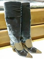 ungaro ロングブーツ ウンガロ 新品 ベロア ブーツ