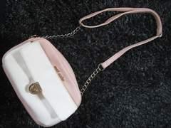 セシルマクビー/CECIL McBEE ピンクのチェーンショルダーバッグ