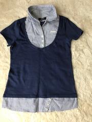 レディース   BACKS ブラウス風半袖Tシャツ Mサイズ