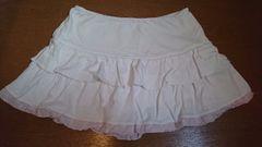 LIZ LISA☆裾ピンク☆ひらミニスカート☆ホワイト☆美品