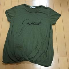 オゾックOZOC◆ロゴ半袖Tシャツ 半袖カットソー◆38カーキ