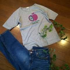 〇HusHusH〇アップルプリントのシンプルTシャツ*・゜