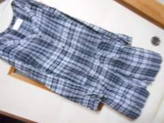 チャオパニック*前開きチェックシャツワンピースF*ポッケ付き秋に★クリックポスト164円