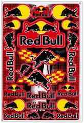 レッドブル(Red Bull)黒/赤黒(縦)#003★ステッカー・シート