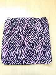 黒×ピンク ゼブラ柄 正方形 モコモコ クッションカバー