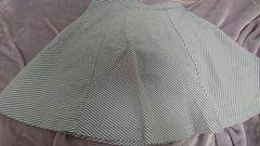 即決☆Sサイズ水色のストライプスカート