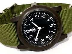 美品【980円〜】ミリタリーテイスト シンプル メンズ腕時計