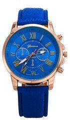 今回限り500円★休日お洒落に腕時計ブルー初期不良保証