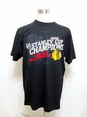 st3 XLシカゴNHLブラックホークスTシャツ 2010 スタンレーカップ