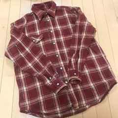 厚手 チェック柄 長袖シャツ ゆったりM ジャケット代わりにも