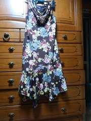 未使用!ドレスみたいに素敵過ぎる!マーメイド風変形ワンピ
