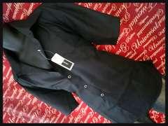 ストライプシャツ 新品黒5L/SP-606