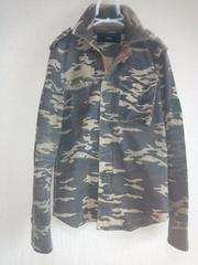 AKMカモフラミリタリーシャツジャケット定価39900円