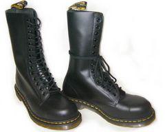 ドクターマーチン新品14ホールブーツ安全靴スチール入1940黒uk7